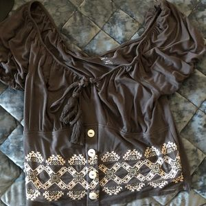 American eagle tie blouse